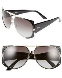 Dior Women'S 62Mm 'Enigmatic' Metal Shield Sunglasses - Palladium/ Black - Lyst