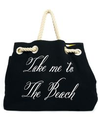 Wildfox Copa Club Reversible Canvas Beach Bag - Lyst