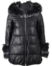 Rizal - Puffer Fur Hood Coat - Lyst