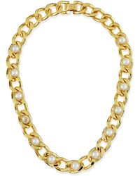 Tory Burch Winchel Pearly Chain Necklace - Lyst