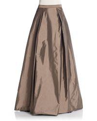 Aidan Mattox - Inverted-pleat Taffeta Skirt - Lyst