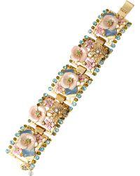Betsey Johnson Queen Bee Beaded Link Bracelet - Lyst