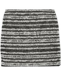 Alice + Olivia Elana Metallic Tweed Mini Skirt - Lyst