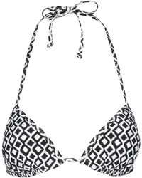Jane Norman Tile Halter Neck Bikini Top - Lyst