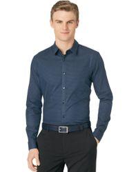 Calvin Klein Horizontal Stripe Dobby Shirt - Lyst