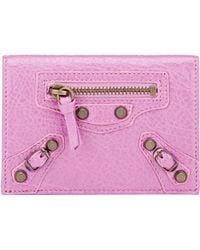 Balenciaga Arena Classic Card Case pink - Lyst
