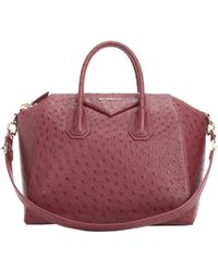 Givenchy Ostrich Medium Antigona Duffel - Lyst