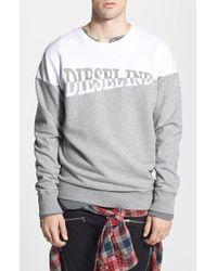 Diesel 'Sho' Crewneck Sweatshirt gray - Lyst