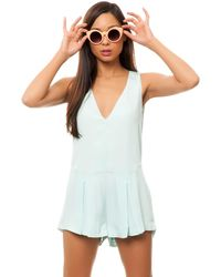 Finders Keepers Here Comes The Sun Playsuit - Lyst