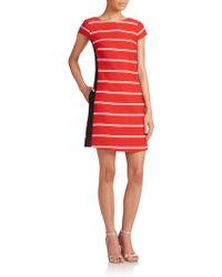 ABS By Allen Schwartz Striped Shift Dress - Lyst