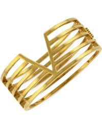 Vince Camuto - Multi-Bar V Hinged Bangle Bracelet - Lyst