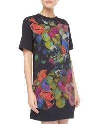 Cynthia Rowley Fruit and Floralprint Jersey Tee Dress - Lyst