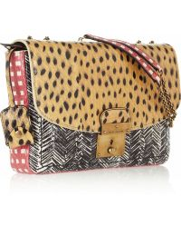 Marc Jacobs Polly Mini Glossed-elaphe and Leather Shoulder Bag - Lyst