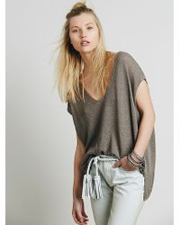 Free People Easy Tea V-Neck Sweater - Lyst