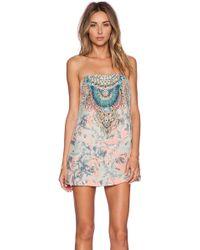 Camilla Multicolor Short Dress - Lyst