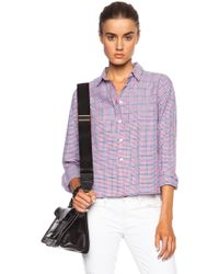 Band of Outsiders Summer Check Cropped And Boxy Cotton Shirt - Lyst