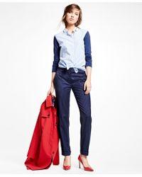 Brooks Brothers   Wool Blend Pinstripe Pants   Lyst