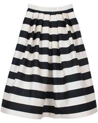 Tibi Escalante Striped Full Satin Skirt - Lyst