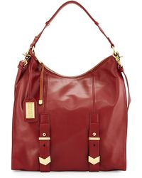 Badgley Mischka Helena Leather Hobo Bag - Lyst