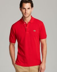 Lacoste Short Sleeve Pique Polo Shirt - Classic Fit - Lyst