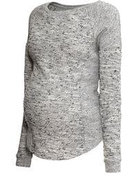 H&M Gray Mama Sweatshirt - Lyst