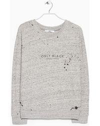 Mango Message Plush Sweatshirt gray - Lyst