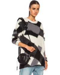 McQ by Alexander McQueen Crew Neck Oversized Mohair Blend Sweater - Lyst