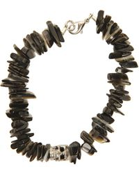 Duchess Of Malfi - Black Lip Shell Bracelet With Skull - Lyst