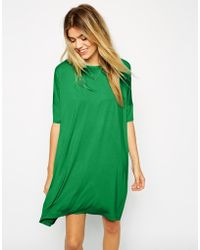 Asos The T-Shirt Dress With Short Sleeve - Lyst