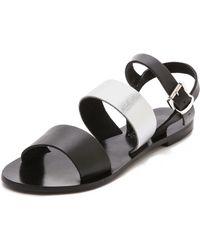 Sol Sana January Double Band Sandals Blacksilver - Lyst