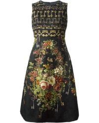 Dolce & Gabbana Key Floral Print Dress - Lyst