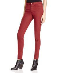 Flying Monkey | High Rise Skinny Jeans In Berry | Lyst