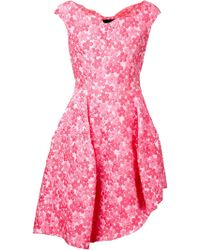 Simone Rocha Floral Brocade Asymmetric Dress - Lyst