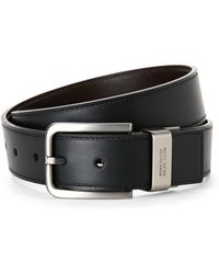 Kenneth Cole Reaction - Reversible Faux Leather Belt - Lyst