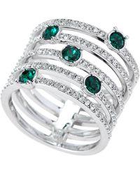 Swarovski - Silver-Tone Creativity Wide Ring Size 7 - Lyst