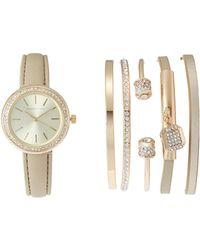 Adrienne Vittadini - Adst1753G165 Gold-Tone Watch & Bangle Set - Lyst