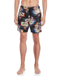 61bf448bf3 Lyst - Superdry Premium Swim Trunks in Blue for Men