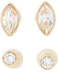 Swarovski - Two-pair Gold-tone Harley Earrings - Lyst