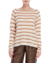 Ottod'Ame - Striped Metallic Trim Sweater - Lyst