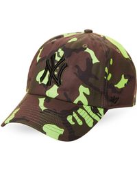 47 Brand - New York Yankees Neon Camo Cleanup Cap - Lyst