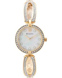 Bulova - 98l225 Gold-tone Watch - Lyst