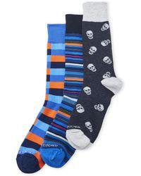 Unsimply Stitched | 3-Pack Skulls & Stripes Crew Socks | Lyst