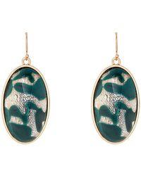 Lulu Frost - Gold-tone & Green Anita Wire Earrings - Lyst