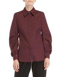 Mantu - Wine Pleated Sleeve Shirt - Lyst