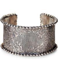 Stephen Dweck - Sterling Silver Engraved Cuff Bracelet - Lyst