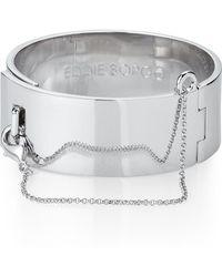 Eddie Borgo - Silver-tone Safety Chain Cuff Bracelet - Lyst
