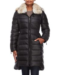 Dawn Levy - Real Fur Hooded Down Coat - Lyst
