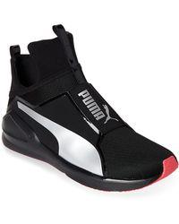 PUMA - Black & Silver Fierce Core Training Sneakers - Lyst