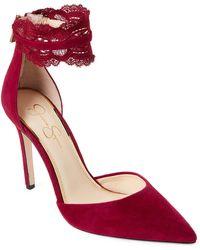 Jessica Simpson - Portalynn Lace Ankle Strap Pumps - Lyst