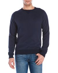 Dstrezzed - Ribbed Panel Fleece Sweatshirt - Lyst